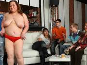 Drunken fat chick fucked at party