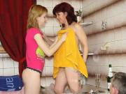His mom and teen GF hook up naughty